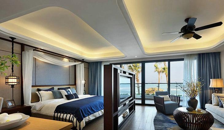 休闲地中海风情 大卧室隔断设计