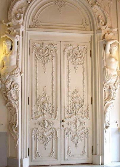 墙壁雕花设计门框参考图