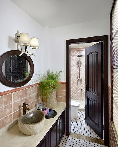 420平美式乡村别墅卫生间装修