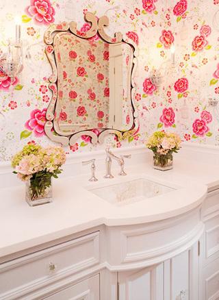 卫生间壁纸布置摆放图
