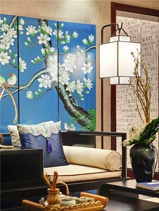 东南亚风格三居室沙发背景墙图片