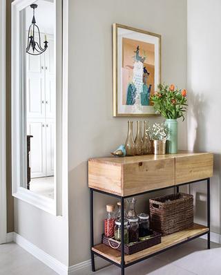 90平美式风格两居室玄关柜图片