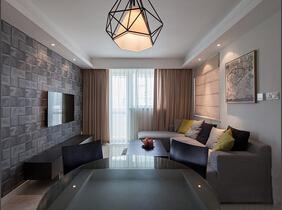 120平简约风格三房两厅装修  素雅的色调