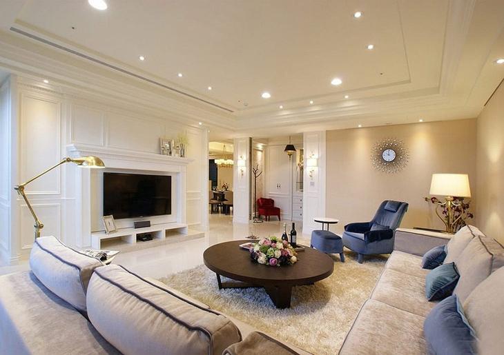 高端简美式客厅装饰大全