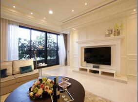 145平极简欧式公寓设计 优雅裸色系搭配