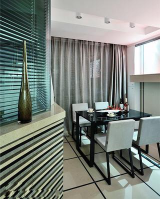 120平现代简约三居餐厅效果图