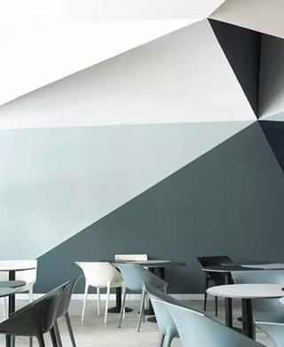 创意几何图案背景墙装修