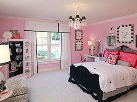 浪漫后的安心  10款粉色系卧室布置实景图