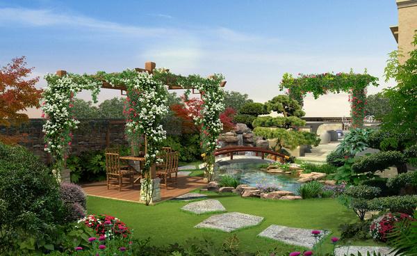 阳台花园设计,入户花园改造注意事项 ,别墅花园风水禁忌,花园风格种类 齐家网