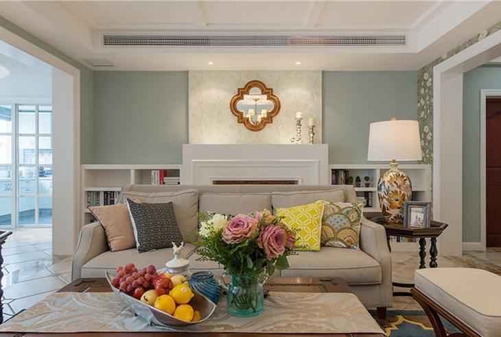 法式新古典客厅背景墙效果图