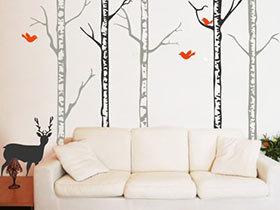 给你一个夏天  11个客厅手绘背景墙设计图