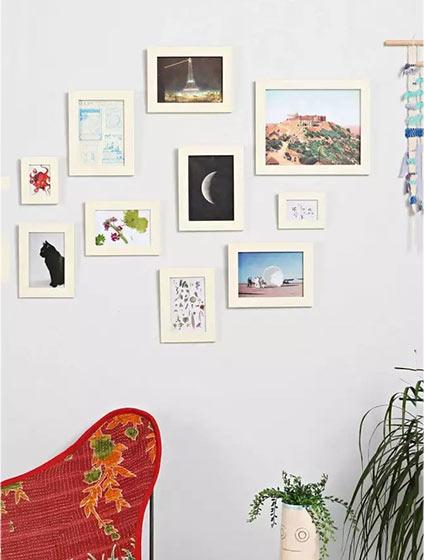 照片墙设计实景图片