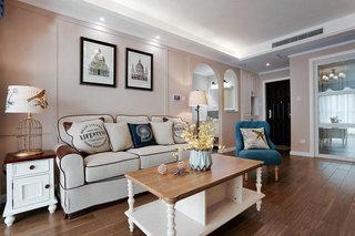 88㎡两居室客厅装修装饰效果图