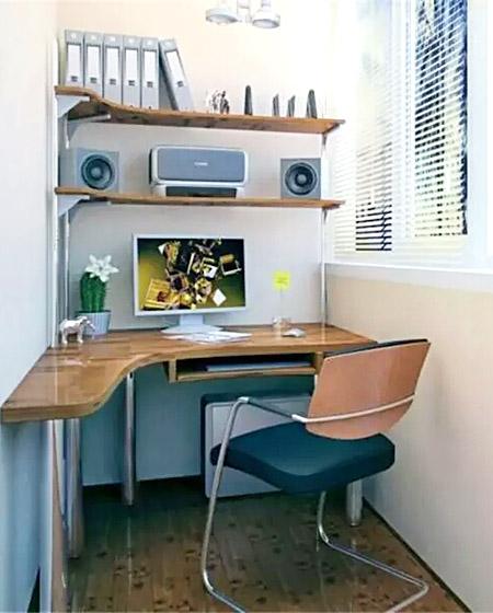 小户型阳台书房装修案例