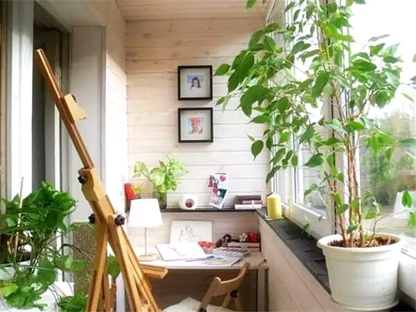 阳台书房装修实景图