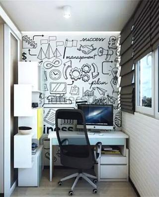 小户型阳台书房装修效果图