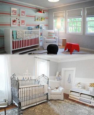 温馨简约婴儿房实景图