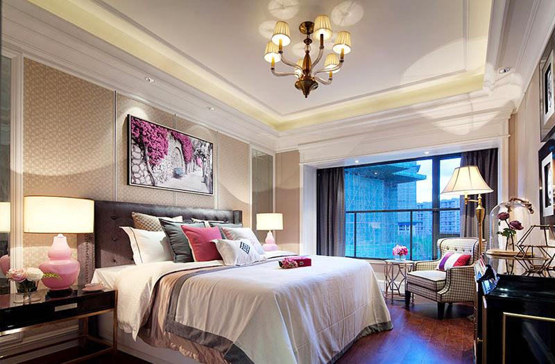 华丽浪漫美式主卧室效果图
