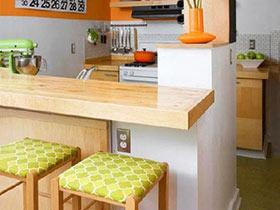 咱家还少个装饰  12款家庭吧台装修效果图
