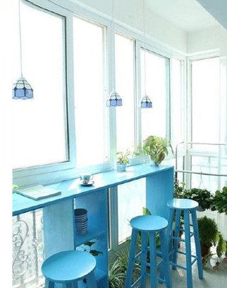 家庭阳台吧台设计欣赏图
