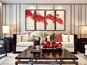 120平中式风格样板房装修 韵味东方美