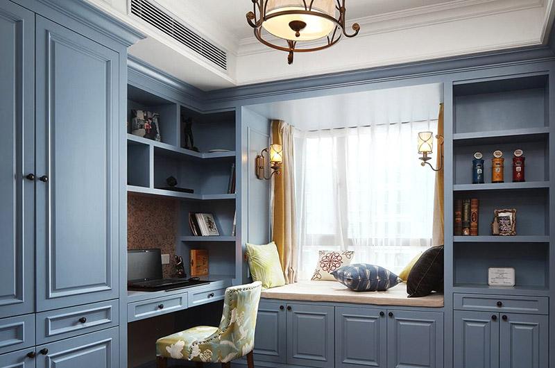 美式风格三室两厅书房效果图装修
