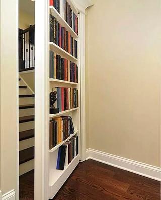 楼梯书架隐形门装修