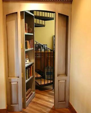书架隐形门装修装饰图
