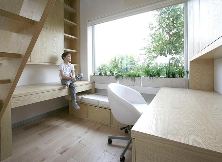 80平米复式书房效果图