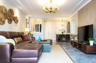 130平混搭风格两居客厅效果图