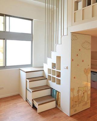40平小户型公寓创意楼梯图片