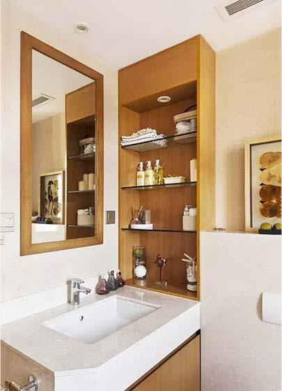 卫生间镜子木质图片