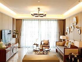 120㎡新中式两居装修实景图 淡雅木色