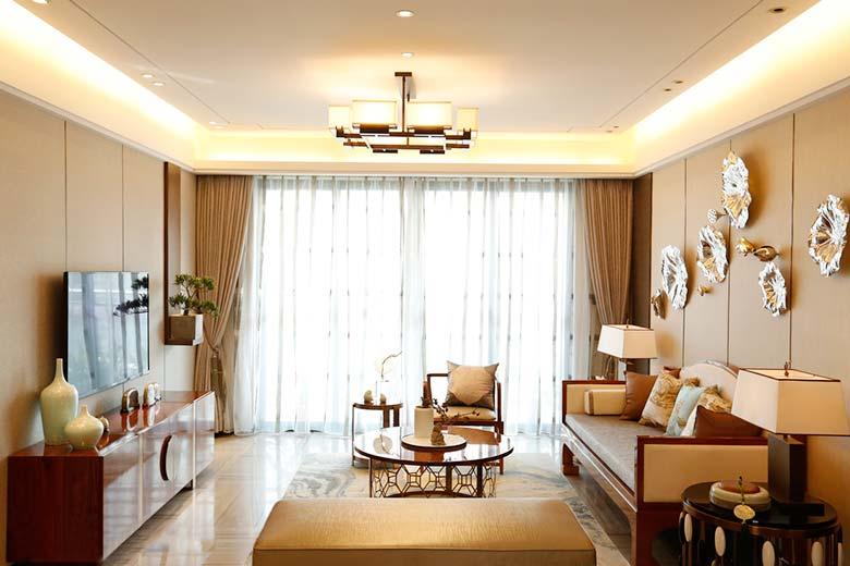清新淡雅新中式 客厅整体设计