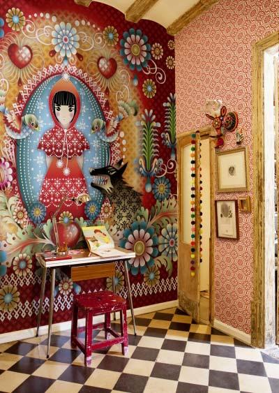 花式壁纸背景墙实景图