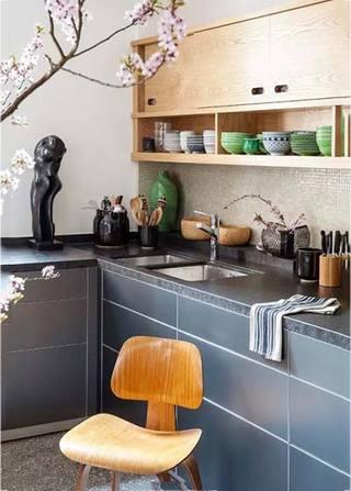 中式厨房布置设计平面图