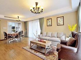 140平美式风格三室两厅装修 清新筑梦家