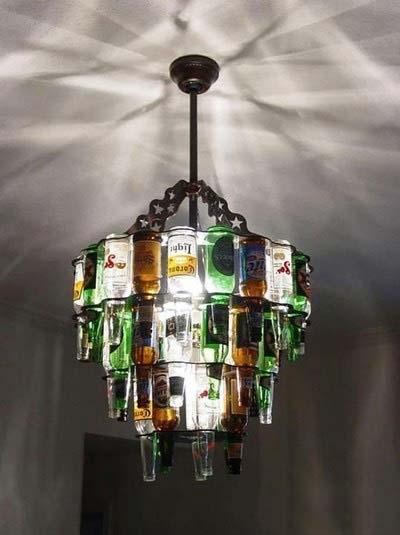 DIY瓶子灯装修效果图