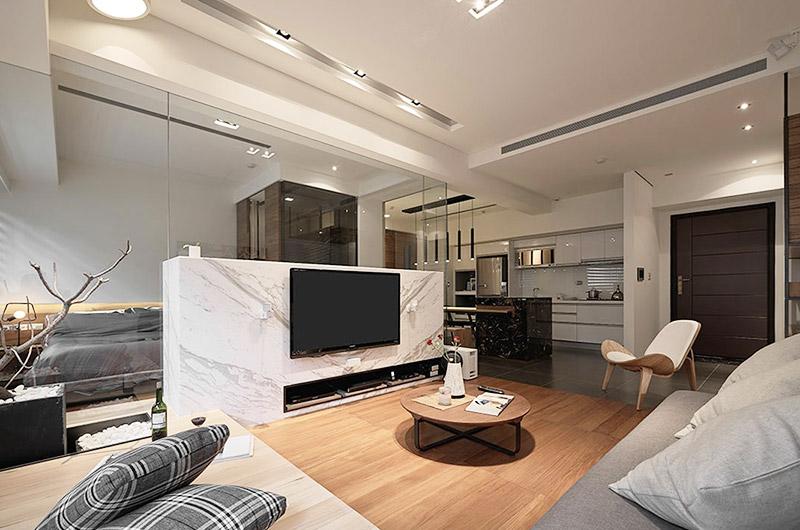 日式单身公寓空间隔断设计