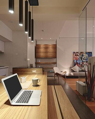 60平日式公寓餐厅效果图