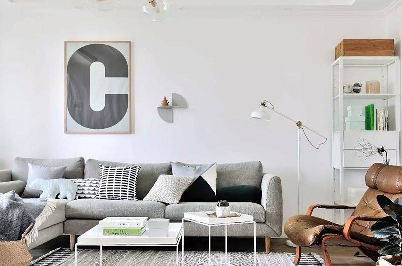 简约北欧风客厅 懒人沙发设计