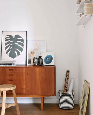 120平北欧两居室展示柜图片
