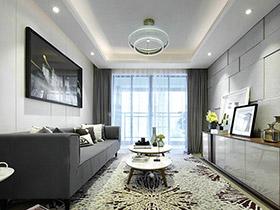 80平现代简约风格两室两厅装修 化繁为简