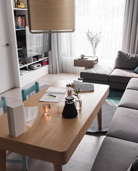 舒适宜家风 实木书桌效果图