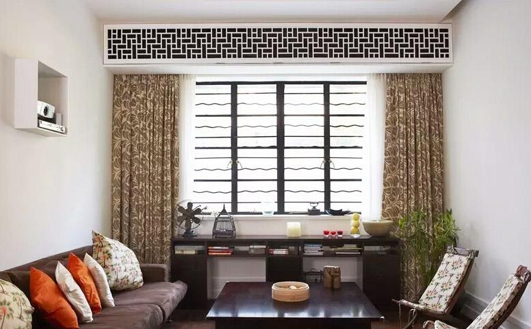 精美混搭风格客厅窗帘效果图