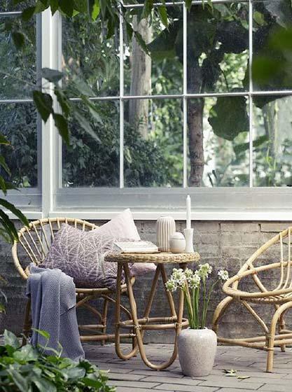 庭院竹椅子装修效果图