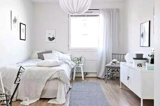 84平北欧两居室卧室装潢图