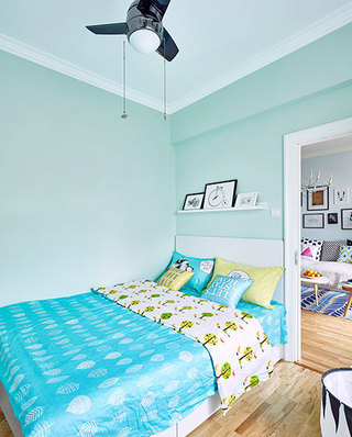 82㎡北欧两居室卧室图片大全