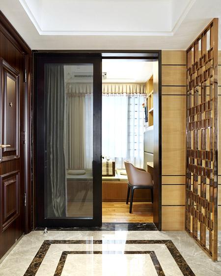 120平简约风格样板房门厅装修图