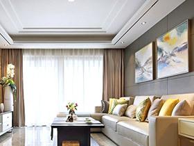 120平简约风格样板房装修 无限意境之美